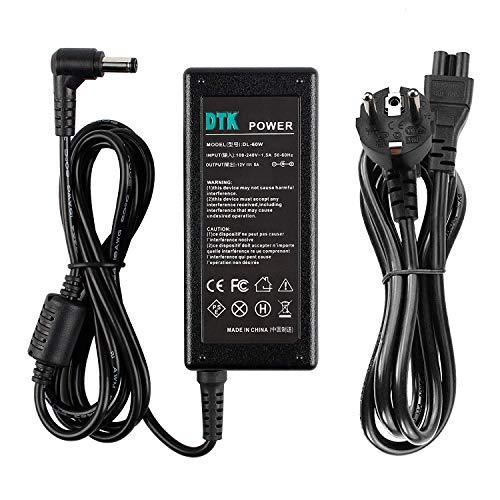 DTK Ladegerät AC Netzteil für LCD TFT Bildschirm Monitor, LED Strips, Freebox V5, HD und V6, NAS, EXT. Festplatten, für Pico-PSU Ladegeräte Netz Batterie-Stromversorgung (12V 5A)