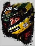 Refosian Ayrton Senna Poster F1 Formel Grand Poster Kunst