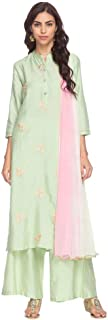 STOP Womens Mandarin Collar Embroidered Palazzo Suit