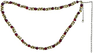 DollsofIndia Stone Studded Kamarband - Waistband -26.5 inches Chain - 15 inches (GY13)