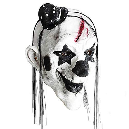 Emorias 1 Pcs Máscaras de Halloween Esqueleto Látex de Caucho Horror Cabeza Humana de Fiesta Careta - Payaso Blanco