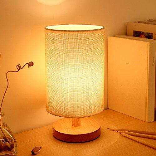 Bureaulampen tafellampen Japanse creatieve LED mini houten bureaulamp, linnen lampenkap, eenvoudige moderne stijl slaapkamer bedlampje studentenkamp student kantoor energiebesparende schaar