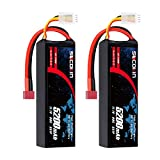 Socokin Lipo Battery 3S 11.1V 5200mAh 60C with Deans T Plug for RC Model Redcat Racing, RC Racing Car Heli Airplane Quadcopter Helicopter etc (2 Pack)