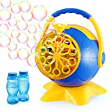 Theefun Bubble Machine, Bubble Machine for Toddlers Over 800+ Bubbles Per Minute, Bubble Maker Machine with 2 Bottles of Bubble Solution, Kids Bubble Machine for Parties Wedding Birthday Outdoor