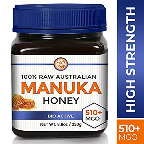 Raw Manuka Honey Certified NPA 15+ High Grade MGO 510+ Medicinal Strength - BPA Free Jar - Cold Extraction - Independently Verified 250g