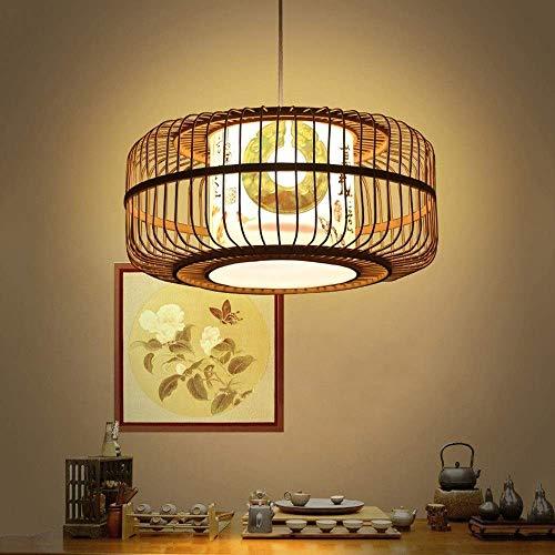 Chinese antieke bamboe kroonluchter creatieve handgeweven lantaarn kroonluchter E27 binnenverlichting plafondlamp slaapkamer Loft decoratieve verlichting, rieten rotan geweven lamp