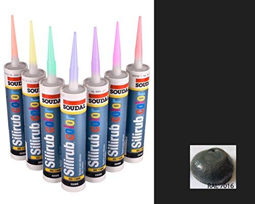 Barniz de silicona antracita gris Premium Silicone Mastic Sealant RAL 7016