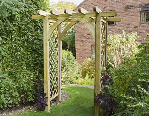 Leisure Traders Ultima Pergola Wooden Garden Trellis Arch