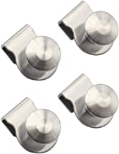YES Time 4 Pieces Stainless Steel Cabinet Kitchen Bathroom Glass Door Clip Pull Handle