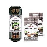 Biolan Mini invernadero para 12 semillas con 36 pellets de musgo sin turba para germinación