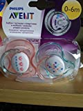 Philips Avent 75154 Mini Orthodontic Freeflow Soothers, Clear, Twin Pack