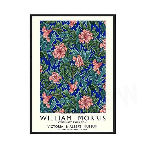 William Morris Poster Grabados Vintage BotáNico Flores Lienzo Pinturas William Morris Cuadros Abstracto Pared Arte Sala Decoracion 40x60cm Cuadros Decoracion Salon Sin Marco