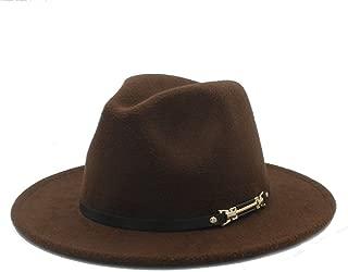 SHENTIANWEI Men Women Authentic Winter Fedora Hat Dance Party Hat for Elegant Lady Panama Hat Church Fascinator Hat Size 56-58CM