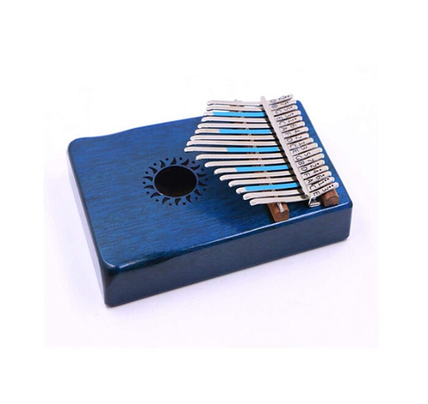 Hongyushanghang Kalimba, retro 17-key thumb piano, suitable for beginners to professionally play finger piano piano, (gift; violin case) Simple and stylish (Color : 2)