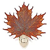 Iridescent Copper Dipped Sugar Maple Leaf Nightlight in Gift Box
