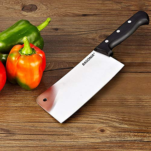 Bagonia Chopper Knife Cleaver Stainless Steel Multipurpose Use for Meat Cutting in Home Kitchen or Restaurant (Random Color, Big Knife)