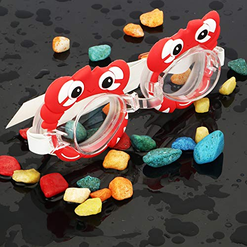 Passion Petals Goggles for Children Anti Fog Swimming Glasses Kids Diving Surfing Goggles boy/Girl Optical Reduce Glare Eye wear - Redcrab