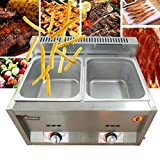 Electric Buffet Server Warming Tray Stainless Steel with 2 Chafing Dishes Pan Hot Plate Food Warmer Steamer for Catering Parties Events Home Dinners (USA Stock)