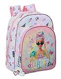 Barbie Girl Power, zaino per la scuola per bambini, 260 x 110 x 340 mm