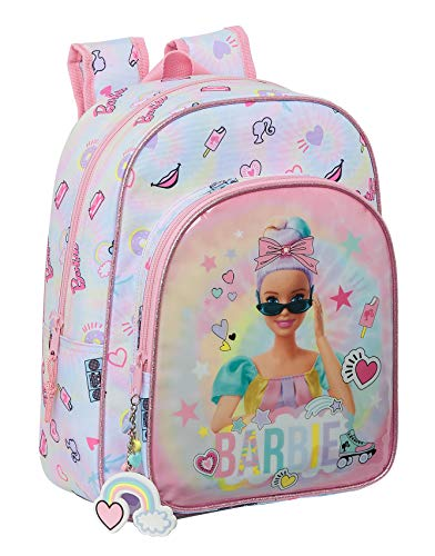 safta 612110185 Mochila Escolar Infantil Animada de Barbie Girl Power, 260x110x340mm