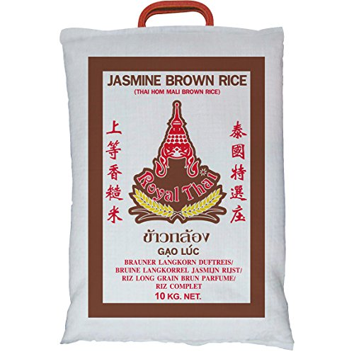[ 10kg ] ROYAL THAI Naturreis AAA / Thai Brown Rice ( brauner Reis )