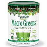 MacroLife Naturals Macro Greens Superfood – Organic - Vegan - Non-GMO - 38 Nutrient-Rich Ingredients - 30z - 90 Servings