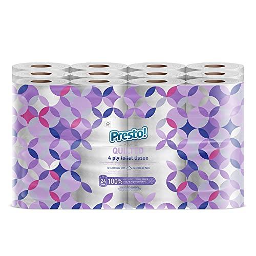 Marchio Amazon - Presto! Maxi-asciugatutto da cucina a 3 veli - Conf. da 18 rotoli (18 x 80 strappi)