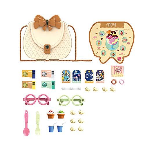 Aoliao Juego de la casa de juguete para niños de simulación de la mochila de combinación de vajilla de cocina de maquillaje conjunto de kit médico de película tema de regalo de