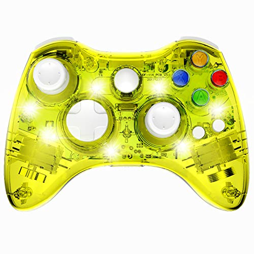 PAWHITS - Mando inalámbrico para Xbox 360 (doble motor, vibración)