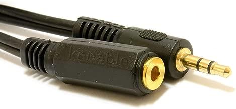 3,5 mm Stéréo Jack Vers Femelle Casque d'extension Rallonge Plaqués Or câble 5 m