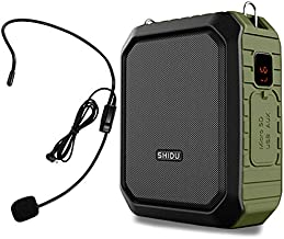 Voice Amplifier Portable with Wired Headset Microphone Speaker Hear Lound with Mask On 18W 4400mAh Support Bluetooth Speaking Recording Waterproof for Outdoors Teachers Tour Guide Whisper M800