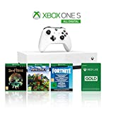 Xbox One S 1TB All Digital Edition Console + 1 Mese Xbox Live Gold + 3 Digital Games Inclusi (Sea of Thieves, Minecraft, Fortnite Legendary …