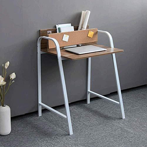 N/Z Equipo para el hogar Escritorio de Madera Simple para computadora Escritorio Mesa pequeña Ahorro de Espacio Dormitorio económico Escritorio Individual (Altura 70 CM Ancho 60 CM) (Color: Negro)