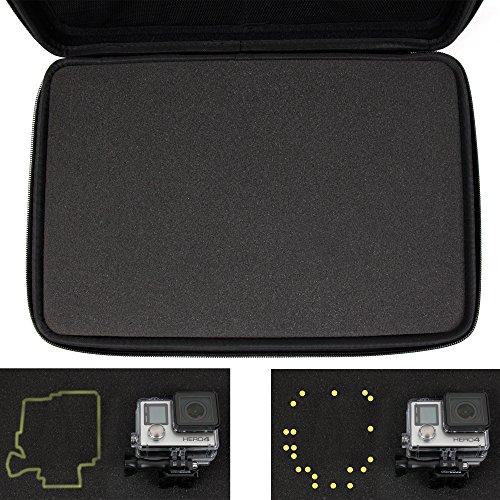 DURAGADGET Mallette de Rangement Personnalisable Rigide pour caméras embarquées Xiaomi Xiaoyi Mini Nette Action et Wimius L1