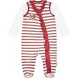 Steiff Baby-Mädchen Set Strampler + T-Shirt Langarm, True RED, 074