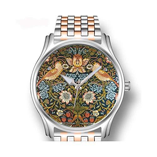 Herrenuhren Roségold Edelstahl Sport Business Watch Männliche Uhr Antike Schreibmaschine Vintage Bild Armbanduhr