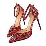 Scarpe Corte con Cinturino alla Caviglia da Donna Tacchi a Spillo Tacchi a Spillo Scarpe da Festa con Tacco a Spillo