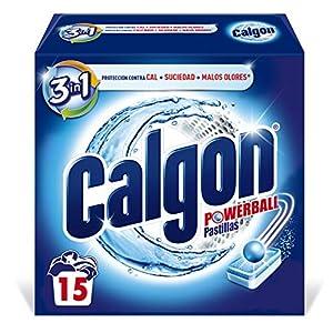 Calgon Powerball Pastillas – Antical para la Lavadora, Elimina Olores y Suciedad, en formato pastillas, 15 unidades