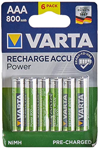 Varta Piles Rechargeable AAA x 6 800 mAh
