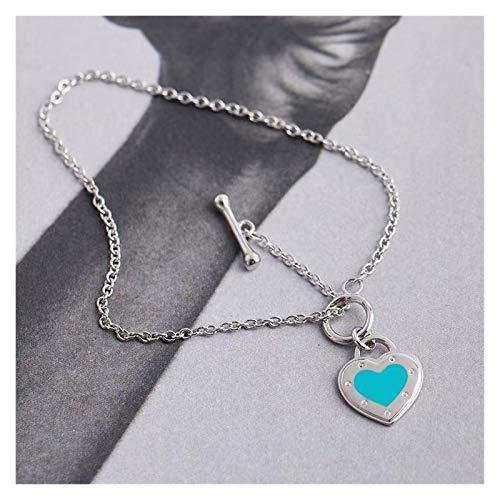 Bracelet Exquisite 925 silver charm heart-shaped bracelet personality female bracelet