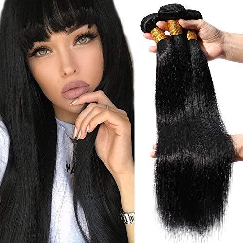 """12""""(30cm) SEGO Extensiones de Cortina de Pelo Natural [Brazilian Human Hair 3 Bundles] Cabello Humano Brasileño Liso Straight (300g)"""