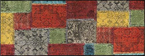 wash+dry Fußmatte, Vintage Patches 75x190 cm, innen und außen, waschbar