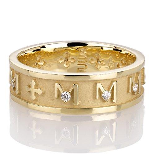 TUUM Anillo Rosario Decem de oro amarillo de 9 quilates y brillantes DEC0003B0G0 Último pieza