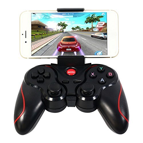 Sminiker Android Wireless Bluetooth Gamepad Game Controller for Bluetooth Gamepad for Android and for Cell Phone, Smartphone, Tablet, Smart BOX Android TV BOX