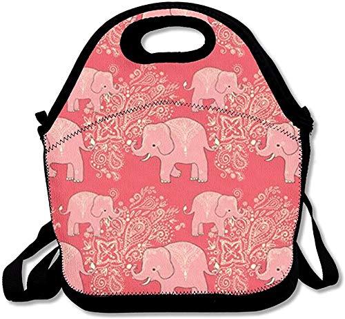 Red Elephant Fashion Cute Lunch Bag Lunch Mochila