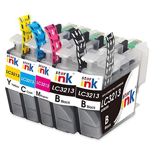 Starink 5 Pack Kompatibel für Brother LC-3213 LC3213 LC 3213 Tintenpatronen für Brother MFC-J890DW MFC-J895DW DCP-J772DW DCP-J774DW MFC J890DW J895DW J497DW DCP J772DW J774DW J572dw Patronen