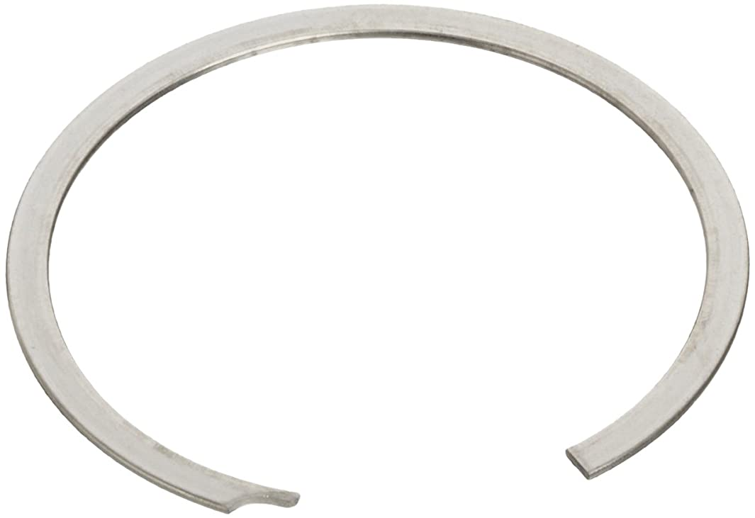 Standard External Retaining Ring, Spiral, Axial Assembly, 1070-1090 Carbon Steel, Plain Finish, 1-1/8