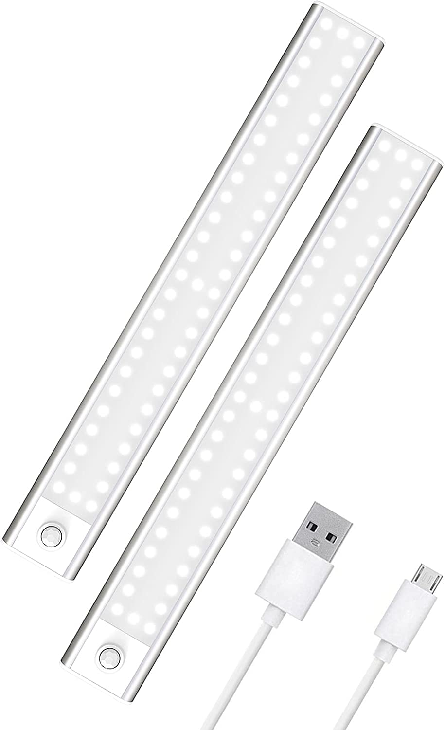 """Axnine 12"""" 2-Pack 53-LED Rechargeable Under Counter Lights  $14.49 Coupon"""