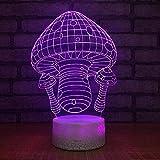 Novedad Lámpara Led 3D Linda Casa de Setas Acrílico Atmósfera Luz de Noche 3D 7 Cambio de Color Lámpara de Mesa USB para Regalo de Niños