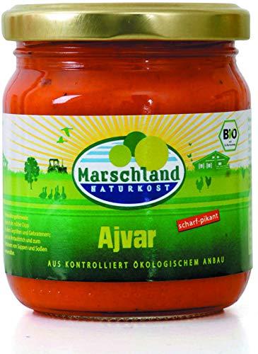Marschland Naturkost Bio Ajvar, scharf-pikant (2 x 200 gr)